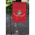 "US Marine 12""x18"" Garden Flag with Stand"