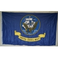 Navy 5'x8' Double Sided Knit Nylon Print Flag